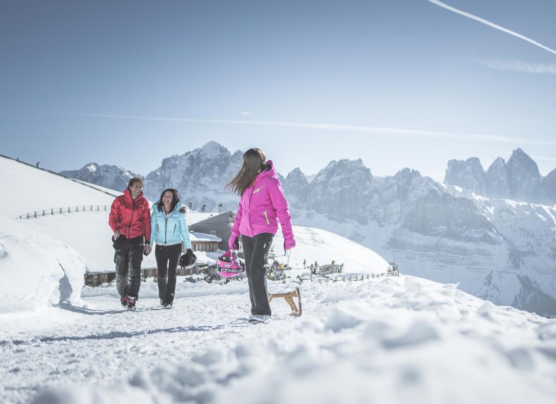 Winter auf der Plose  Südtirol  Dolomiten