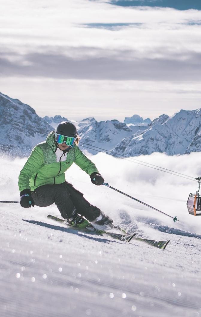 auf der Rossalm befindet ihr euch mitten im Skigebiet Plose